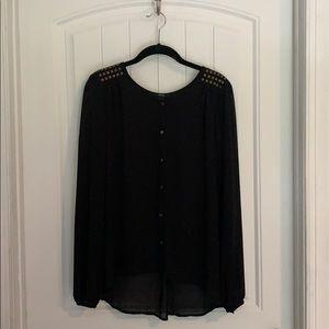 Forever21 Black Long Sleeve Blouse